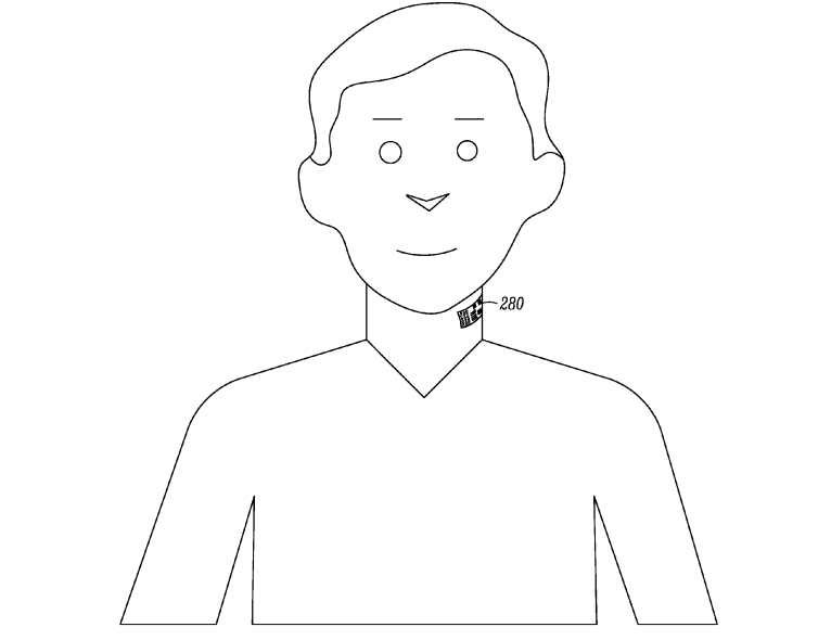 "Google Patents Microphone ""Tattoo"" For Your Neck"