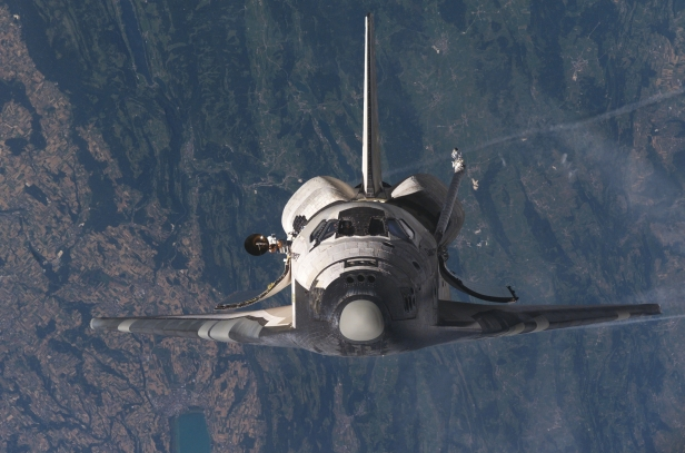 Epic Space Shuttle Approach, view from the top