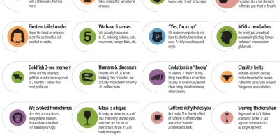 Common MythConceptions: Most contagious falsehoods